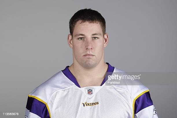 In this handout image provided by the NFL Ryan D'Imperio poses for his 2010 NFL headshot circa 2010 in Eden Prairie Minnesota