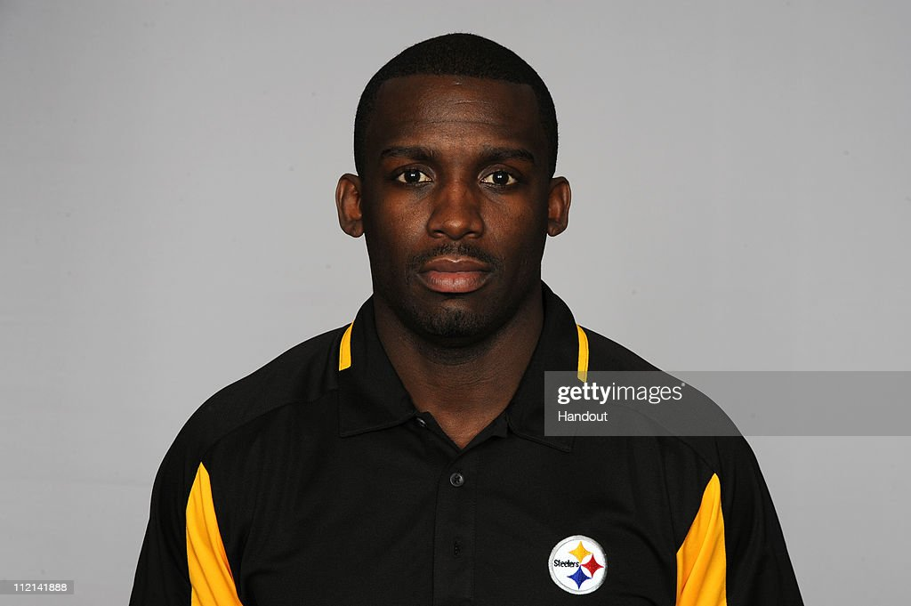 In this handout image provided by the NFL, Scottie Montgomery of the Pittsburgh Steelers poses for his 2010 NFL headshot circa 2010 in Pittsburgh, Pennsylvania.