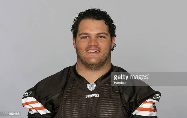 In this handout image provided by the NFL Steve Vallos of the Cleveland Browns poses for his NFL headshot circa 2011 in Berea Ohio