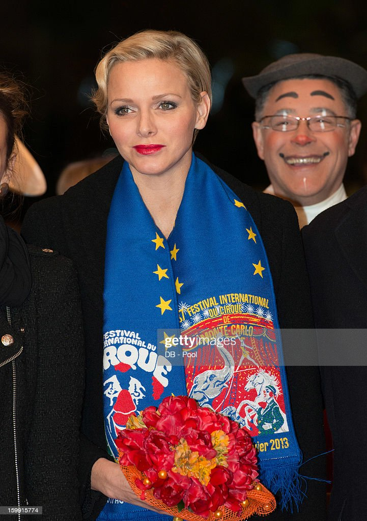 In this handout image provided by the Palais Princier de Monaco, Princess Charlene of Monaco attends the Monte-Carlo 37th International Circus Festival Awards Ceremony on January 22, 2013 in Monte-Carlo, Monaco.