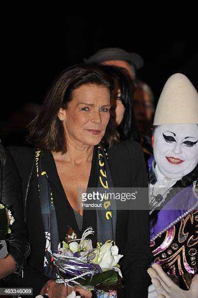 In this handout image provided by the Palais Princier de Monaco Princess Stephanie of Monaco attend the 38th International Circus Festival on January...