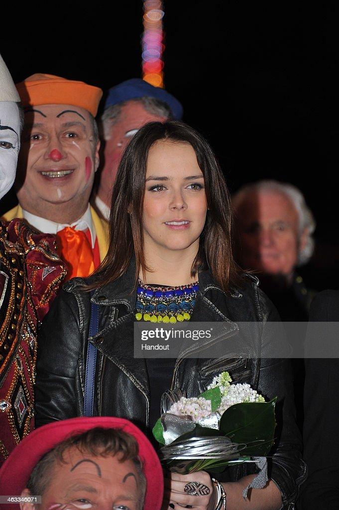 In this handout image provided by the Palais Princier de Monaco, Pauline Ducruet attends the 38th International Circus Festival on January 17, 2014 in Monte-Carlo, Monaco.
