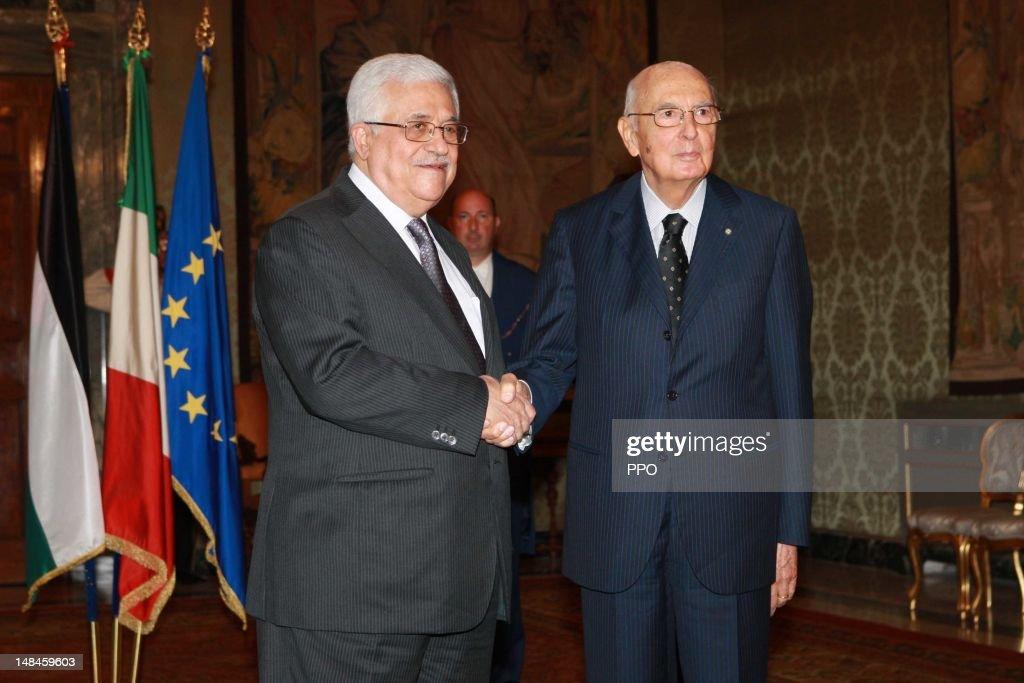 Italian Prime Minister Mario Monti Meets With Palestinian President Mahmoud Abbas