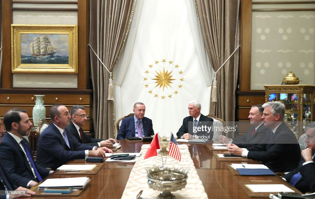 VP Pence And US Officials Visit Ankara To Discuss Syrian Conflict : News Photo
