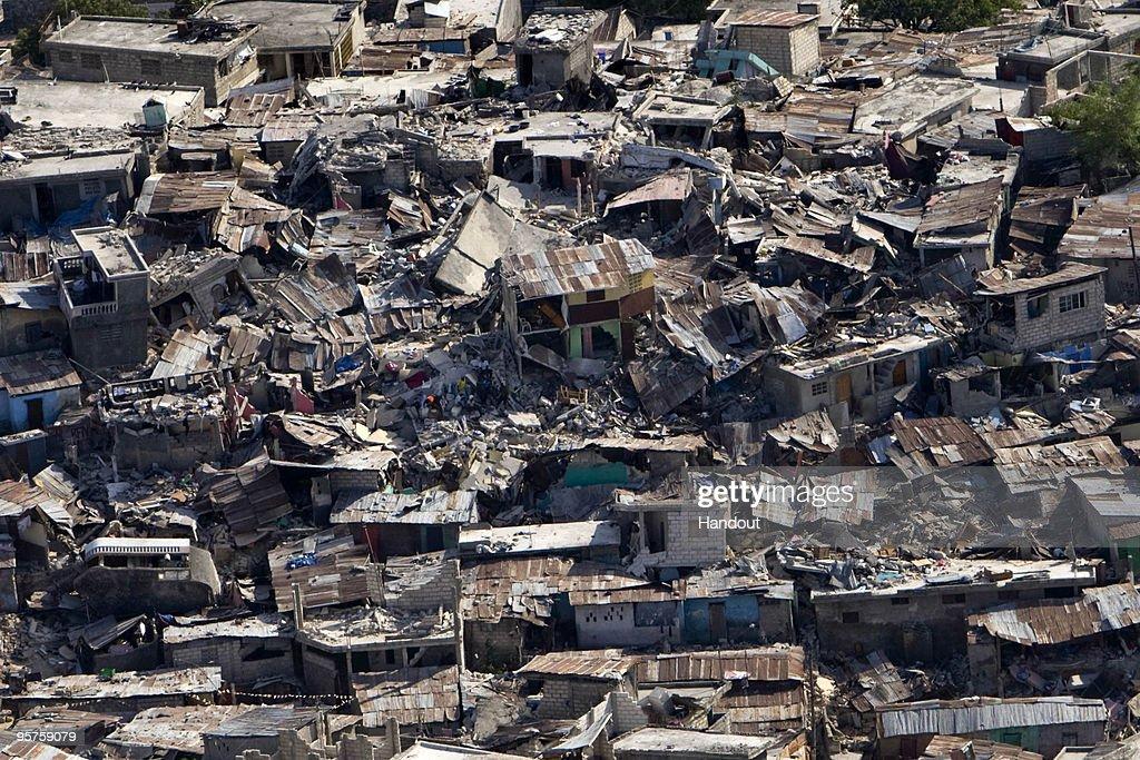 Major Earthquake Devastates Haitian Capital : News Photo