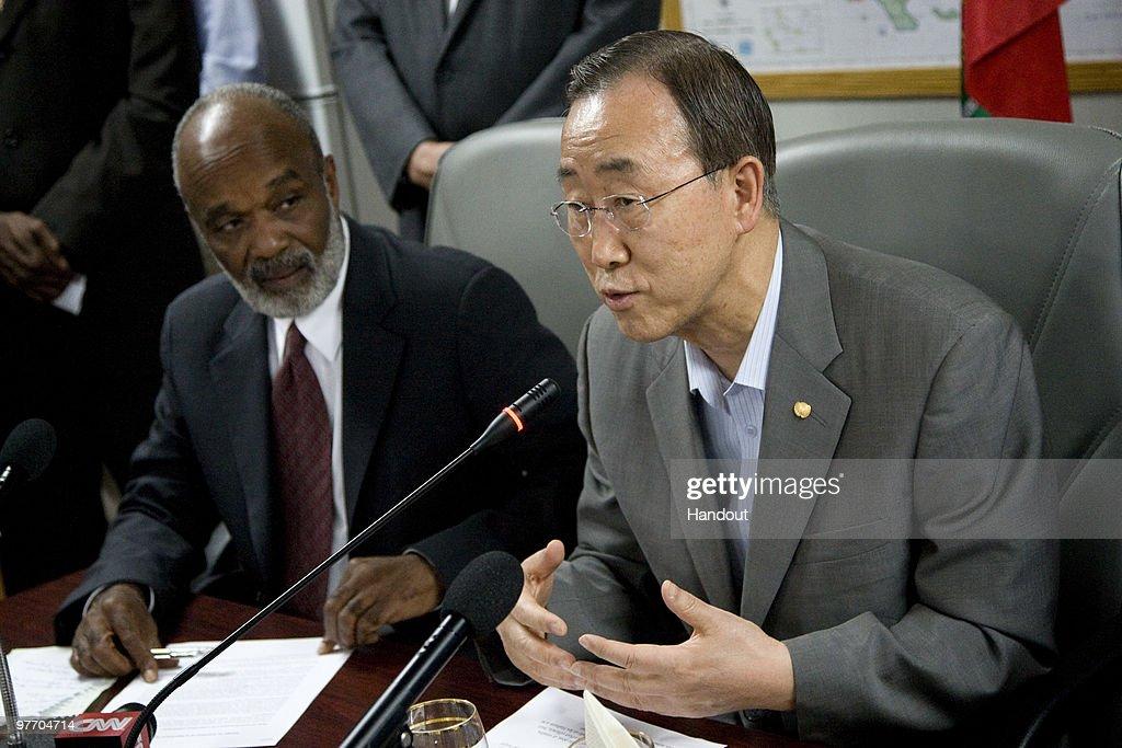 UN Secretary General Ban Ki-moon Visits Haiti