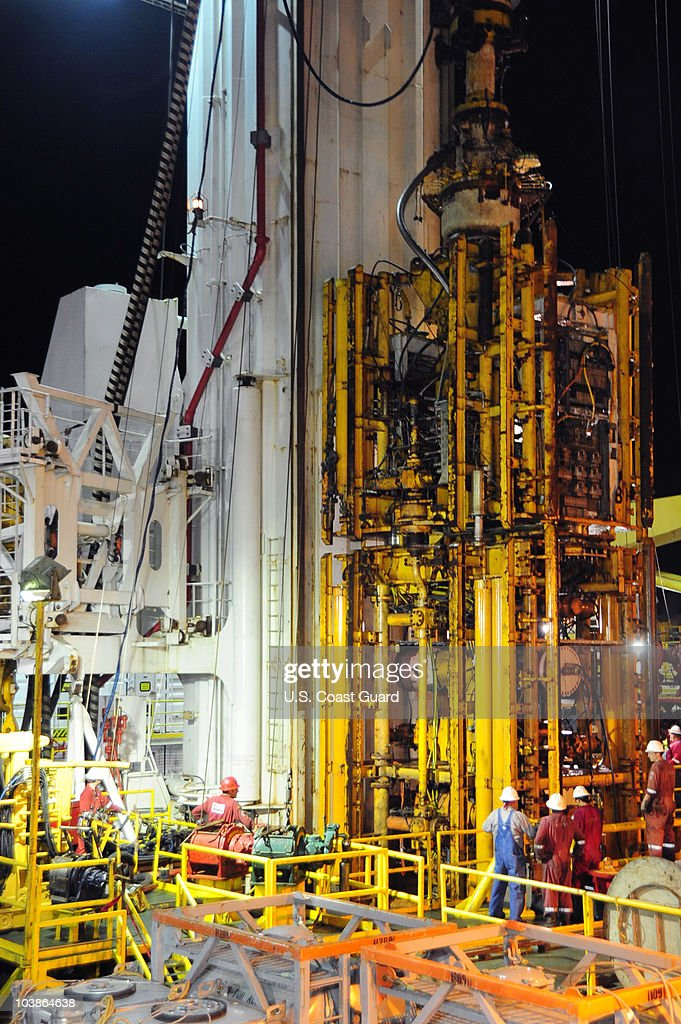 BP Blow Out Preventer From The Deepwater Horizon Oil Rig Recovered : News Photo