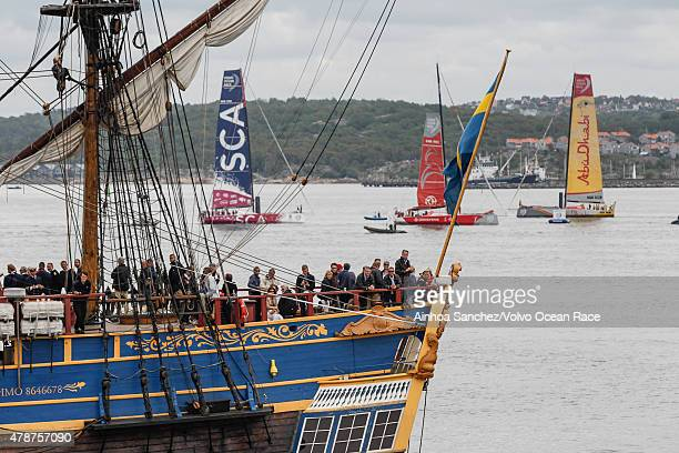 In this handout image provided by the Volvo Ocean Race Crowds gather for the final InPort Race on June 27 2015 in Gothenburg Sweden The Volvo Ocean...