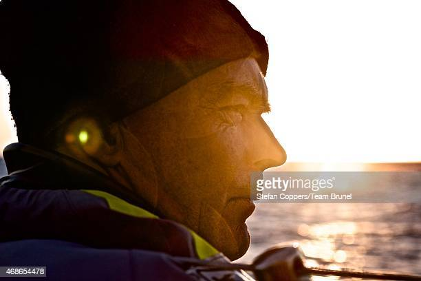 In this handout image provided by the Volvo Ocean Race Leg 5 to Itajai onboard Team Brunel Day 17 Skipper Bouwe Bekking's portrait The Volvo Ocean...