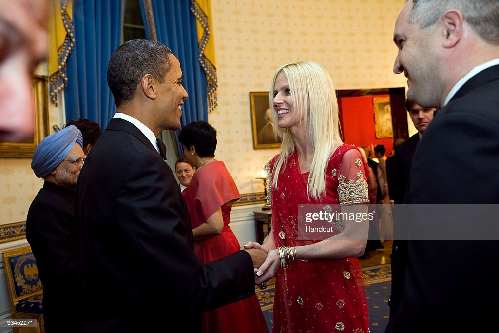 File: Michaele and Tareq Salahi at the White House State Dinner