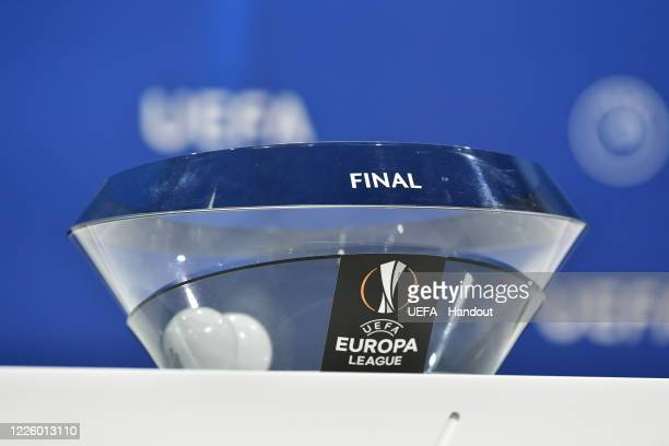 In this handout image provided by UEFA, a general view prior to the UEFA Europa League 2019/20 Quarter-final, Semi-final and Final draw at the UEFA...