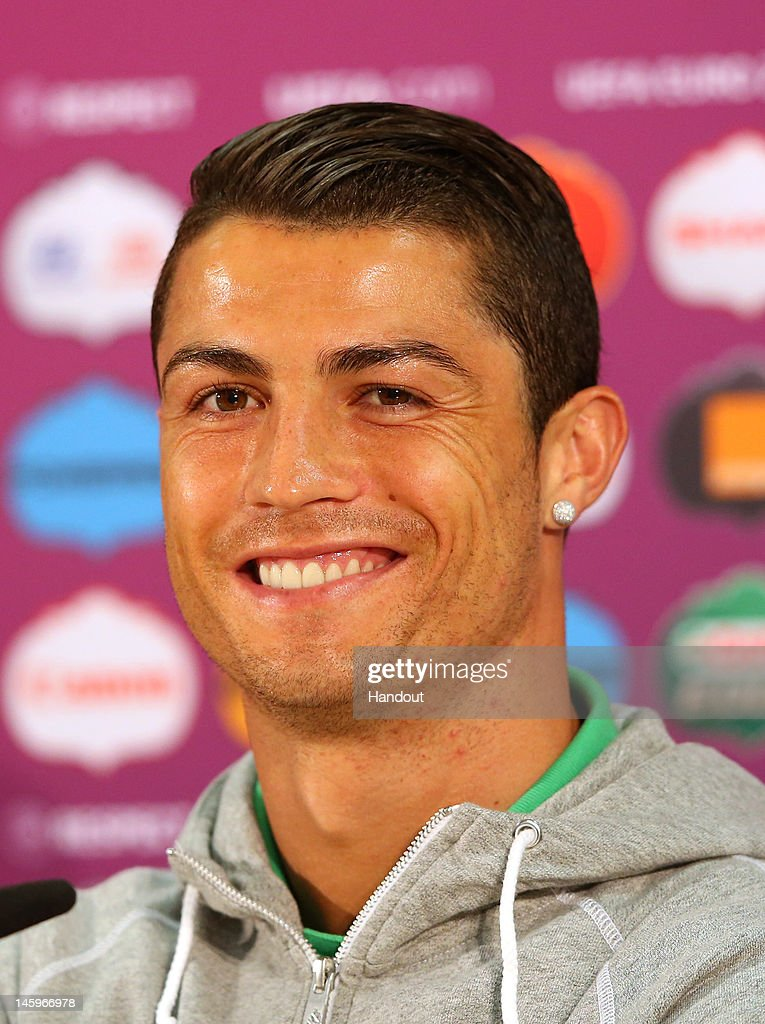Portugal Training And Press Conference Group B UEFA EURO - Cr7 hairstyle euro 2012