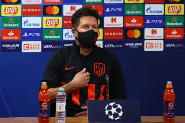 PRT: Atletico Madrid Press Conference - UEFA Champions League