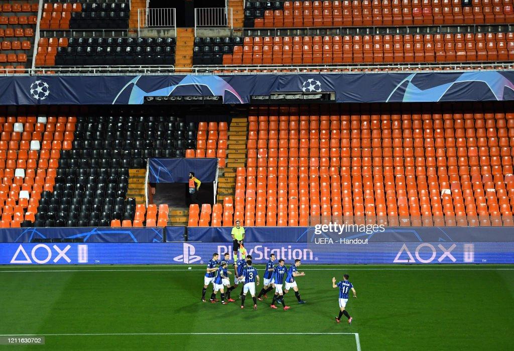 Valencia CF v Atalanta - UEFA Champions League Round of 16: Second Leg : ニュース写真