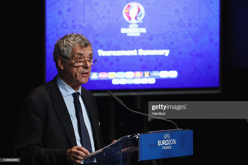 UEFA Euro 2016 - Closing Press Conference : News Photo