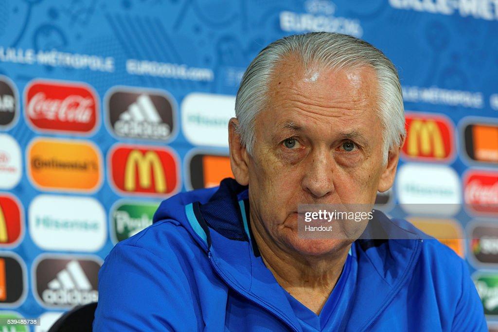 Euro 2016 - Ukraine Press Conference : News Photo