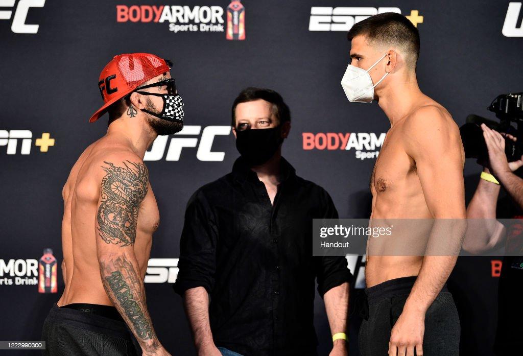 UFC Fight Night Poirier v Hooker: Weigh-Ins : News Photo