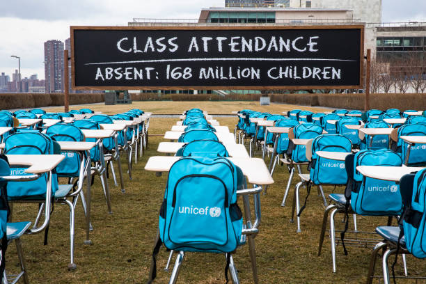 NY: COVID-19: UNICEF unveils 'Pandemic Classroom' at UN Headquarters in New York to raise awareness about the more than 168 million children globally without access to in-class learning for almost a full year