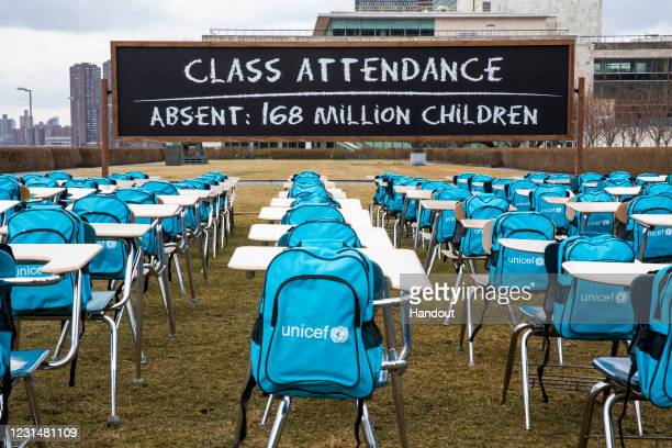 In this handout image provided by UNICEF and released on 00:01 GMT March 3 to call attention to the education emergency wrought by the COVID-19...
