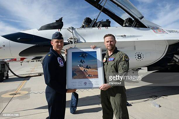 In this handout image provided by USAF Jacob Young who plays Rick Forrester on 'The Bold and the Beautiful' was invited by the United States Air...