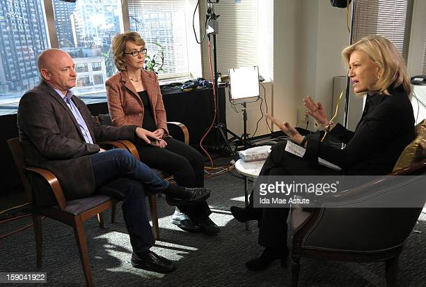 In this handout image provided by Walt Disney Television via Getty Images Former Congresswoman Gabrielle Giffords who was critically injured two...