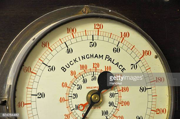 In this handout image released by Buckingham Palace a water pressure gauge is pictured at Buckingham Palace on October 1 2015 in London England...