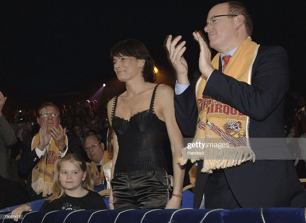 In this handout image released by Monaco Palace, ((L-R) Camille Ducruet, Princess Stephanie of Monaco and Prince Albert of Monaco attend the 31st International Circus Festival of Monte Carlo on January 20, 2007 in Monte Carlo, Monaco.