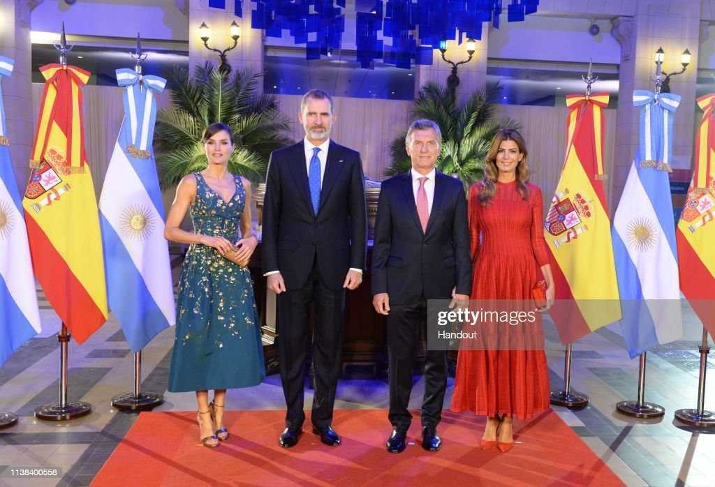 King Felipe II and Queen Letizia Visit Buenos Aires - Day 1 : Nieuwsfoto's