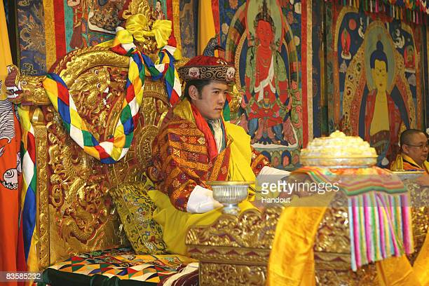 In this handout image supplied by Bhutan Government Department Of Information Technology His Majesty Jigme Khesar Namgyel Wangchuck the Fifth King of...