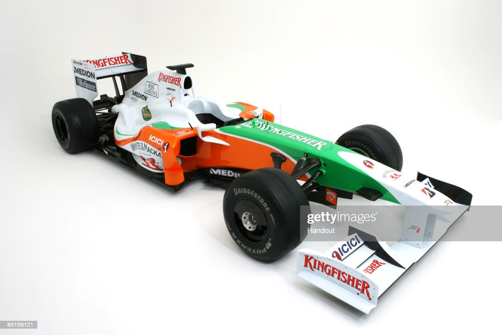 Force India Launch Their VJM02 Formula One Car At Silverstone : News Photo
