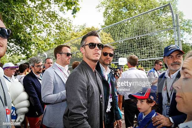In this handout image supplied by Formula E Andre Lotterer during the London Formula E race on JULY 3 2016 in Battersea Park London United Kingdom