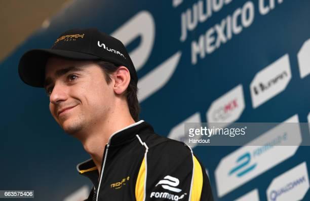In this handout image supplied by Formula E Esteban Gutierrez Techeetah SparkRenault Renault ZE 16 during the FIA Formula E Championship Mexico City...