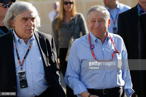 In this handout image supplied by Formula E Jean Todt FIA President during the FIA Formula E Championship Marrakesh ePrix at the Circuit...