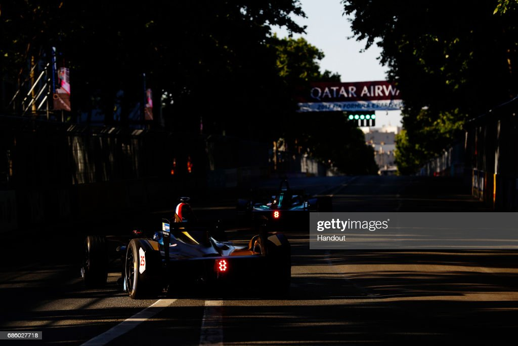 In this handout image supplied by Formula E, Jean-Eric Vergne (FRA), Techeetah, Spark-Renault, Renault ZE 16 during the FIA Formula E Championship Paris ePrix on May 20, 2017 in Paris, France.