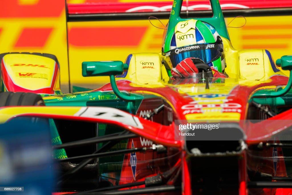 In this handout image supplied by Formula E, Lucas Di Grassi (BRA), ABT Schaeffler Audi Sport, Spark-Abt Sportsline, ABT Schaeffler FE02 during the FIA Formula E Championship Paris ePrix on May 20, 2017 in Paris, France.