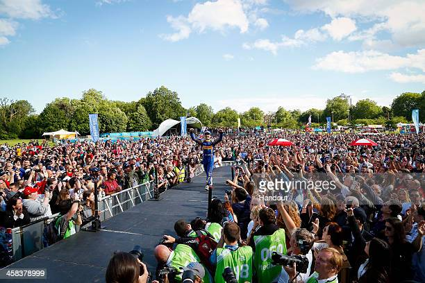 In this handout image supplied by Formula E Nicolas Prost Renault eDams ZE15 during the London Formula E race on July 2 2016 in Battersea Park London...