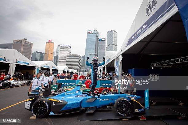 In this handout image supplied by Formula E Sebastien Buemi Renault eDams SparkRenault Renault ZE 16 during the FIA Formula E Championship Hong Kong...