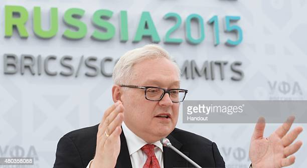 In this handout image supplied by Host Photo Agency / RIA Novosti Sergei Ryabkov Deputy Minister of Foreign Affairs of the Russian Federation...