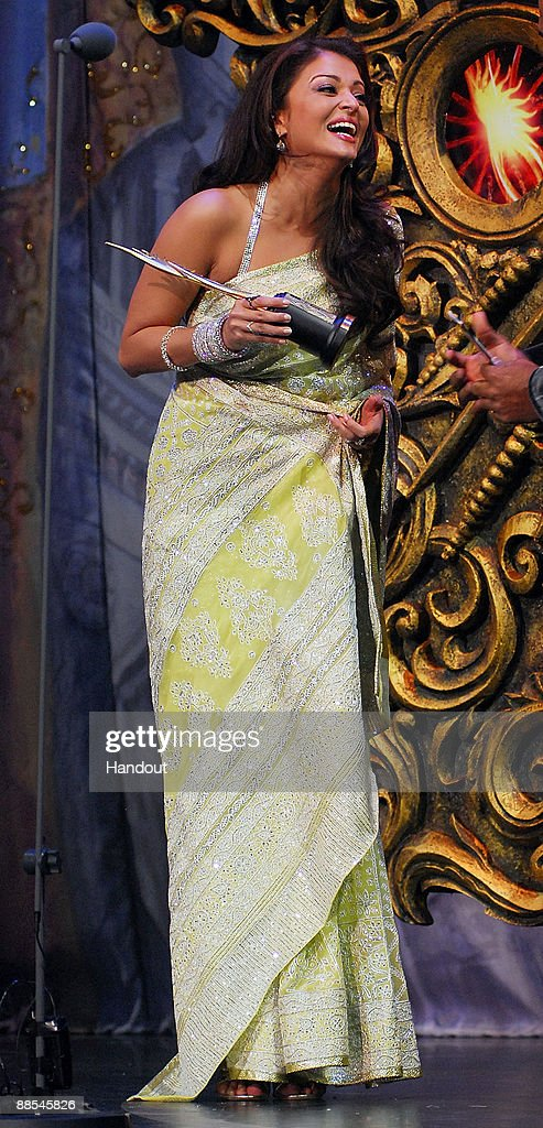 In this handout image supplied by IIAF Bollywood actress Aishwarya Rai Bachchan receives the Female Star of the Decade award during the 2009...