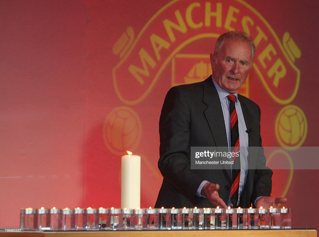 Manchester United Marks 50th Anniversary Of Munich Air Disaster : News Photo