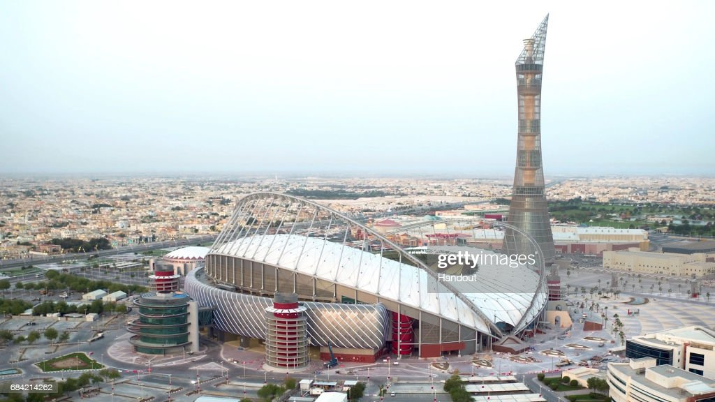 Khalifa International Stadium - Launched by Qatar's Supreme Committee for Delivery & Legacy : News Photo