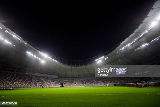 In this handout image supplied by Qatar 2022 on May 17 Qatar's Supreme Committee for Delivery Legacy launches Khalifa International Stadium the first...