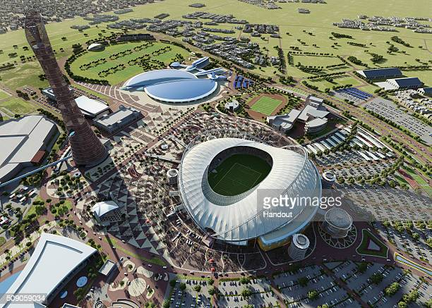 In this handout image supplied by Qatar 2022 this artists impression represents Khalifa International Stadium Qatar will host the FIFA World Cup in...