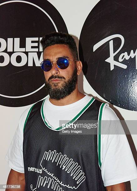 In this handout image supplied by RayBan Armand Van Helden attends the RayBan x Boiler Room on July 23 2015 in London England