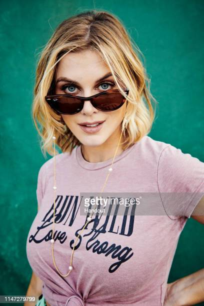 In this handout image supplied by Ray-Ban, Ashley James wears Ray-Bans as he poses at the Ray-Ban Studios at the All Points East Festival at Victoria...