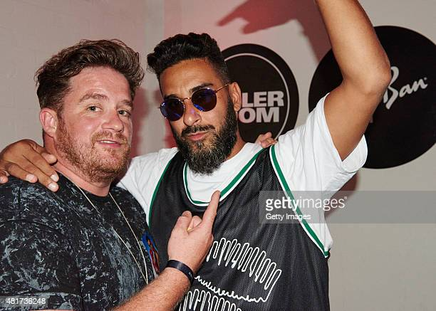 In this handout image supplied by RayBan Eats Everything and Armand Van Helden attend the RayBan x Boiler Room on July 23 2015 in London England