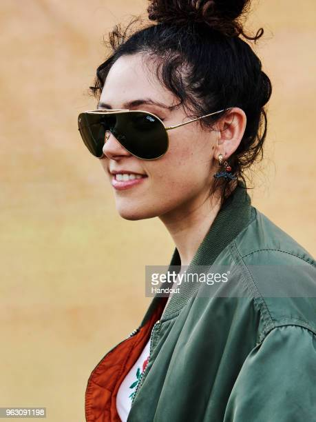 In this handout image supplied by RayBan Eliza Doolittle wearing RayBan poses at the RayBan Studios during All Points East Festival at Victoria Park...