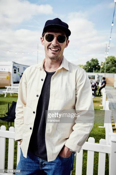 In this handout image supplied by RayBan Gwilym Lee wears RayBans as he poses at the RayBan Studios at the All Points East Festival at Victoria Park...