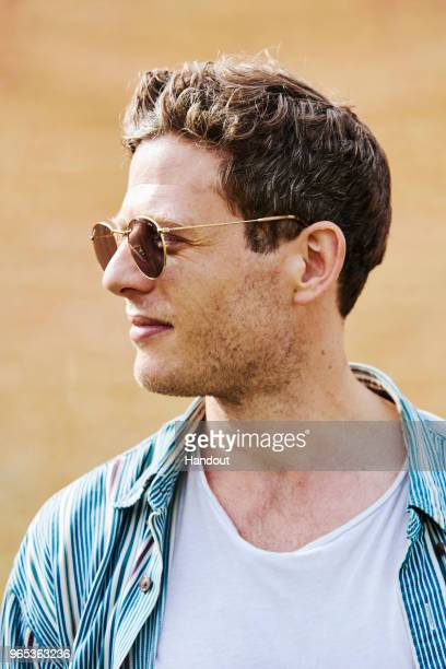 In this handout image supplied by RayBan James Norton wearing RayBan poses at the RayBan Studios during All Points East Festival at Victoria Park on...
