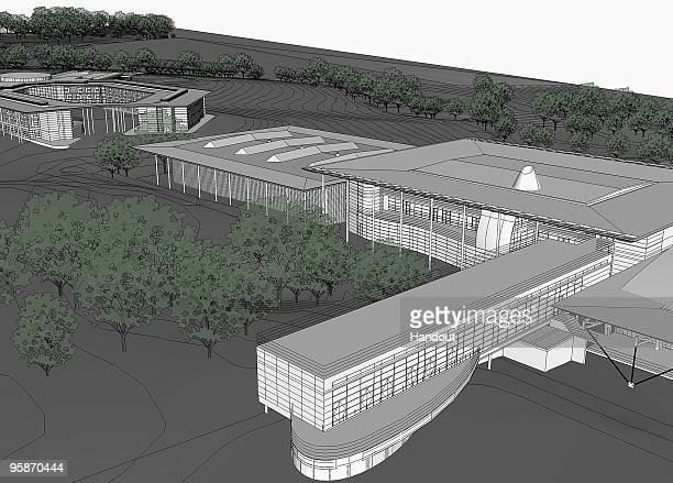 In this handout image supplied by The FA is a 3D artist's impression of the plans for The National Football Centre in Burton on January 19 2010 in...
